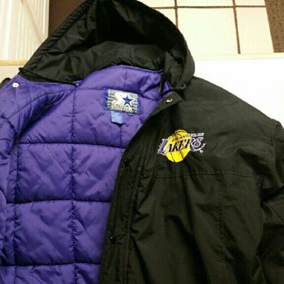 Vintagw Los Angeles Lakers Starter Jacket Jackets Lakers Jacket Oversized Coat