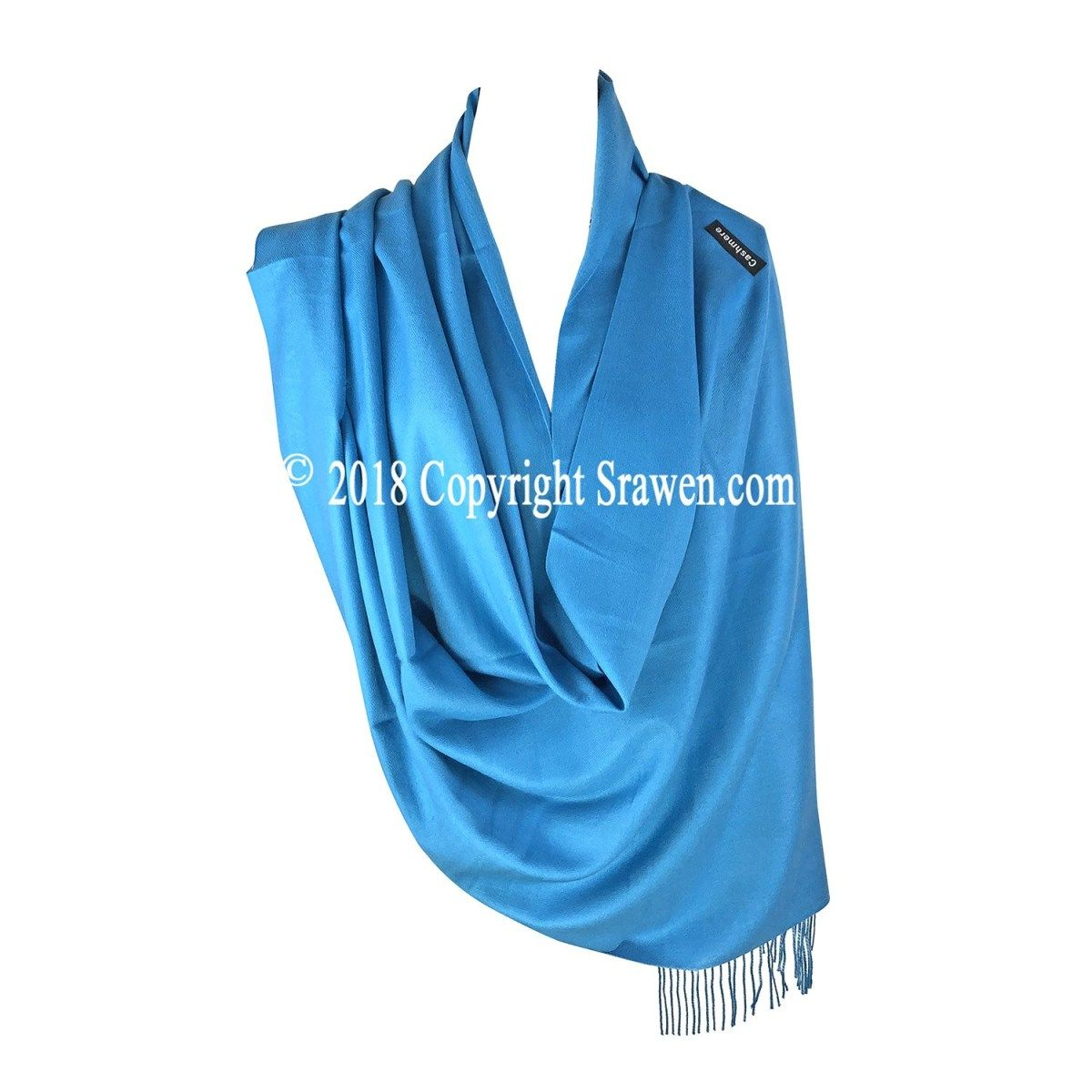 Teal Green High Grade 100/% Cashmere Shawl Pashmina Wrap Hand Made in Nepal *NEW*