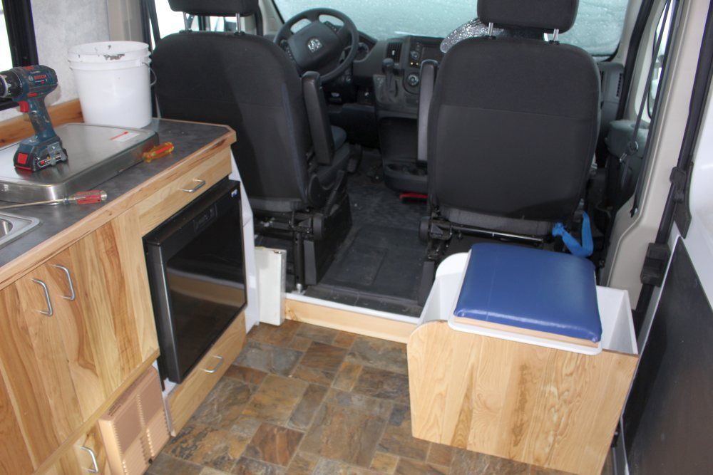 Our ProMaster Camper Van Conversion Composting Toilet Build A Green RV