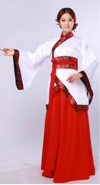 1b5717bcc Women's Ancient Tang Dynasty Empress Dress Traditional Hanfu Cosplay  Clothing Red White Yellow Women Chinese Ancient Costume