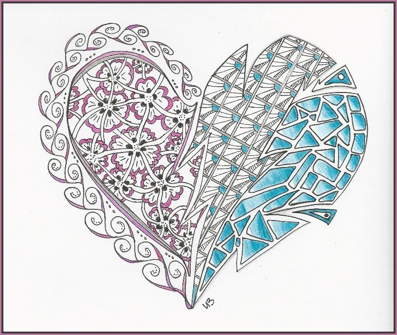 gebrochenes herz broken heart doodleart zendoodle
