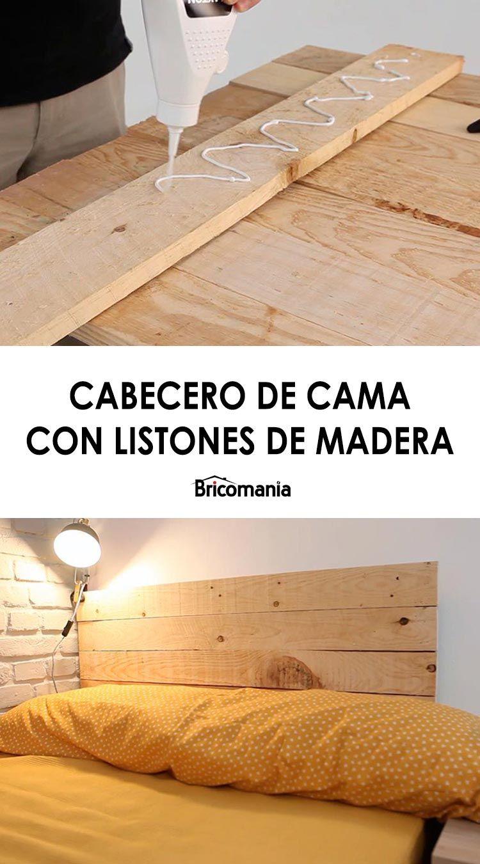Cabecero De Cama Con Listones Bricomanía Listones De Madera Cabeceras De Madera Paneras De Madera