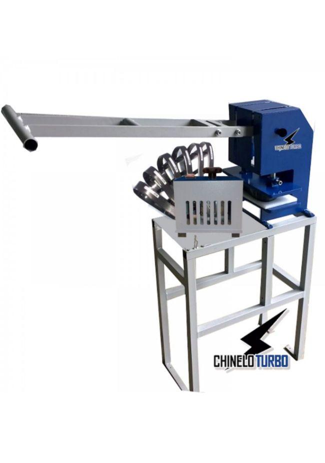 bdb883bad Maquina de fazer Chinelo Manual completa + kit 6 facas | Maquina ...
