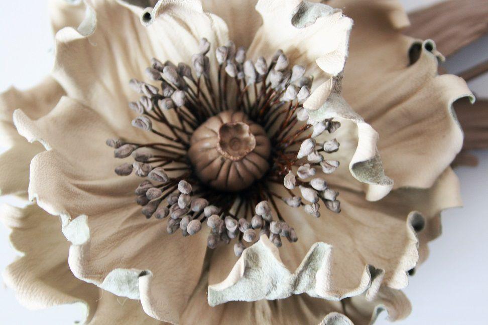 цветы из кожи как делать и фото особенно