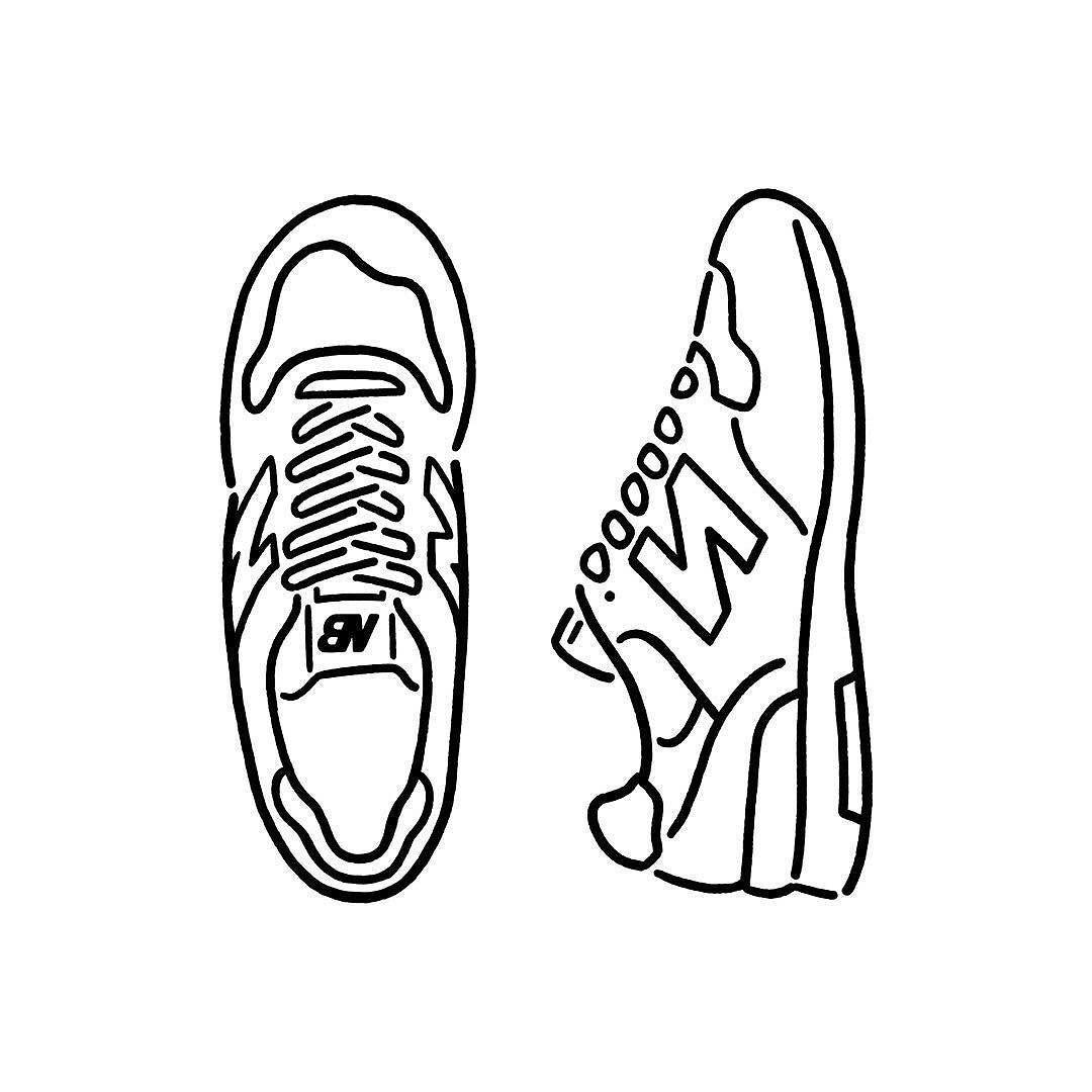 New Balance 1400 This Is My Favorite お気に入りの一足 Newbalance 1400 Sneakers Fashion Shoes Seijimatsumoto 松本誠次 Art Draw Graphic 線画アート くつ イラスト テキスタイル デザイン