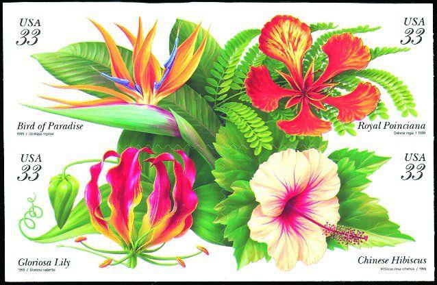 1999 33c Tropical Flowers