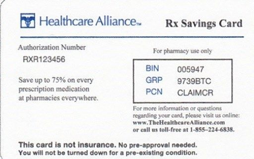Pharmacy Discount Card Prescription Savings Playing Cards That May