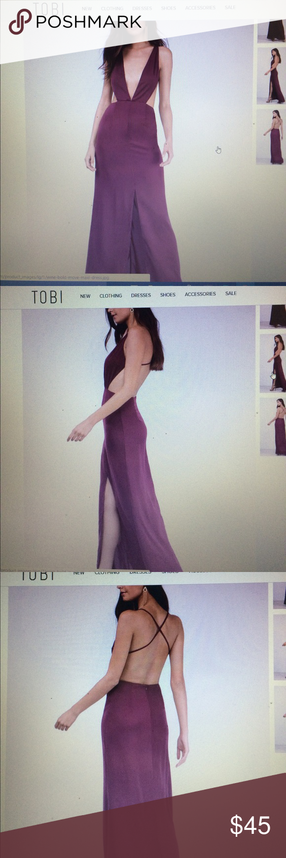 Bold move wine maxi dress nwt maxi dresses bald hairstyles and