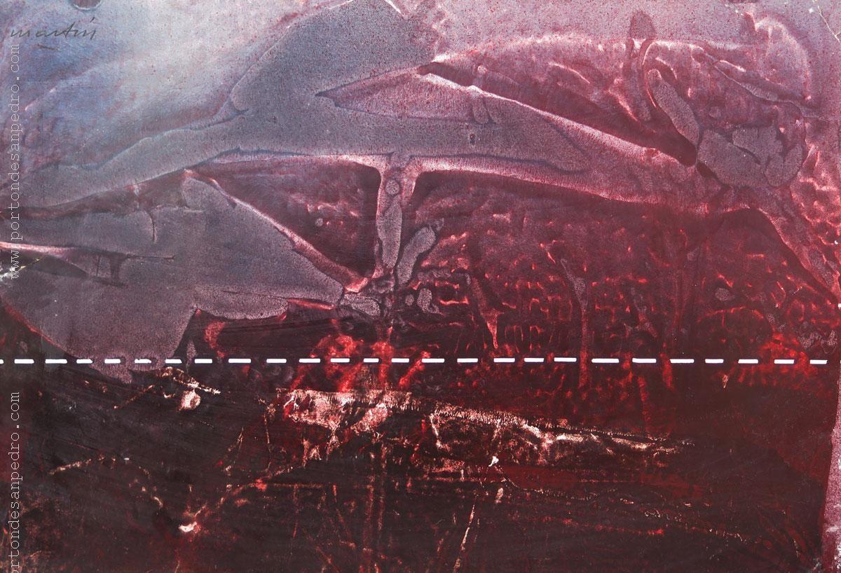 """Vicente Martín  """"Abstracto rojo II"""" Acrílico sobre fibra  45 x 65 cm. Firmado arriba a la izquierda   http://www.portondesanpedro.com/ver-producto.php?id=13051"""