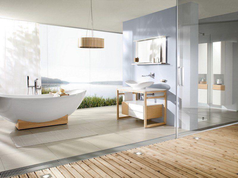 salle-bain-moderne-sanitaire-blanc-accents-bois-suspension ...