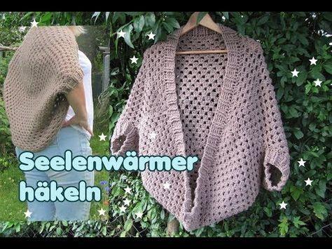 Einfachste Jacke der Welt - Seelenwärmer aus einem einzigen Granny ...