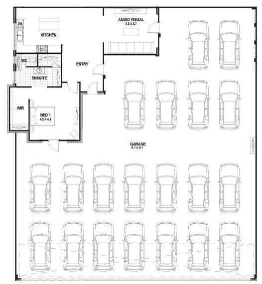 Best House Plan Ever For Me It Would Be I Love Trucks And Some Cars If They Are Old Enough And Of Shop Building Plans Garage Floor Plans Garage Design