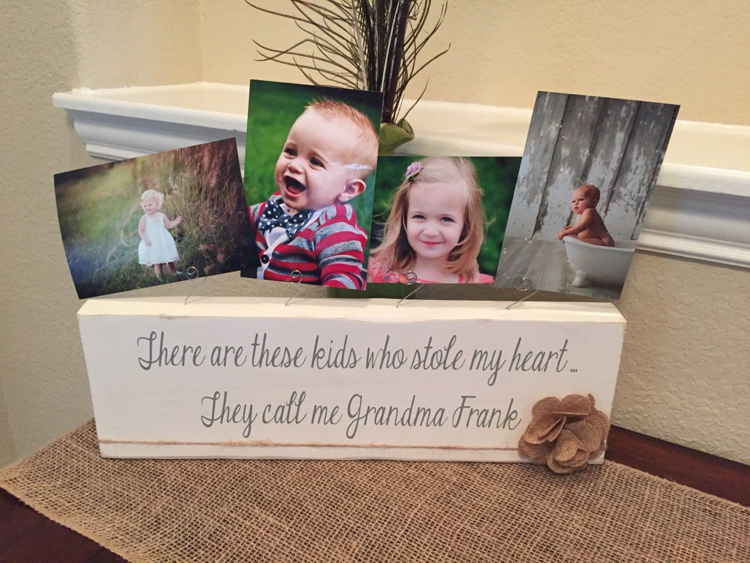 Grandma Gift Personalized Picture Frame Gift Nana Papa Aunt