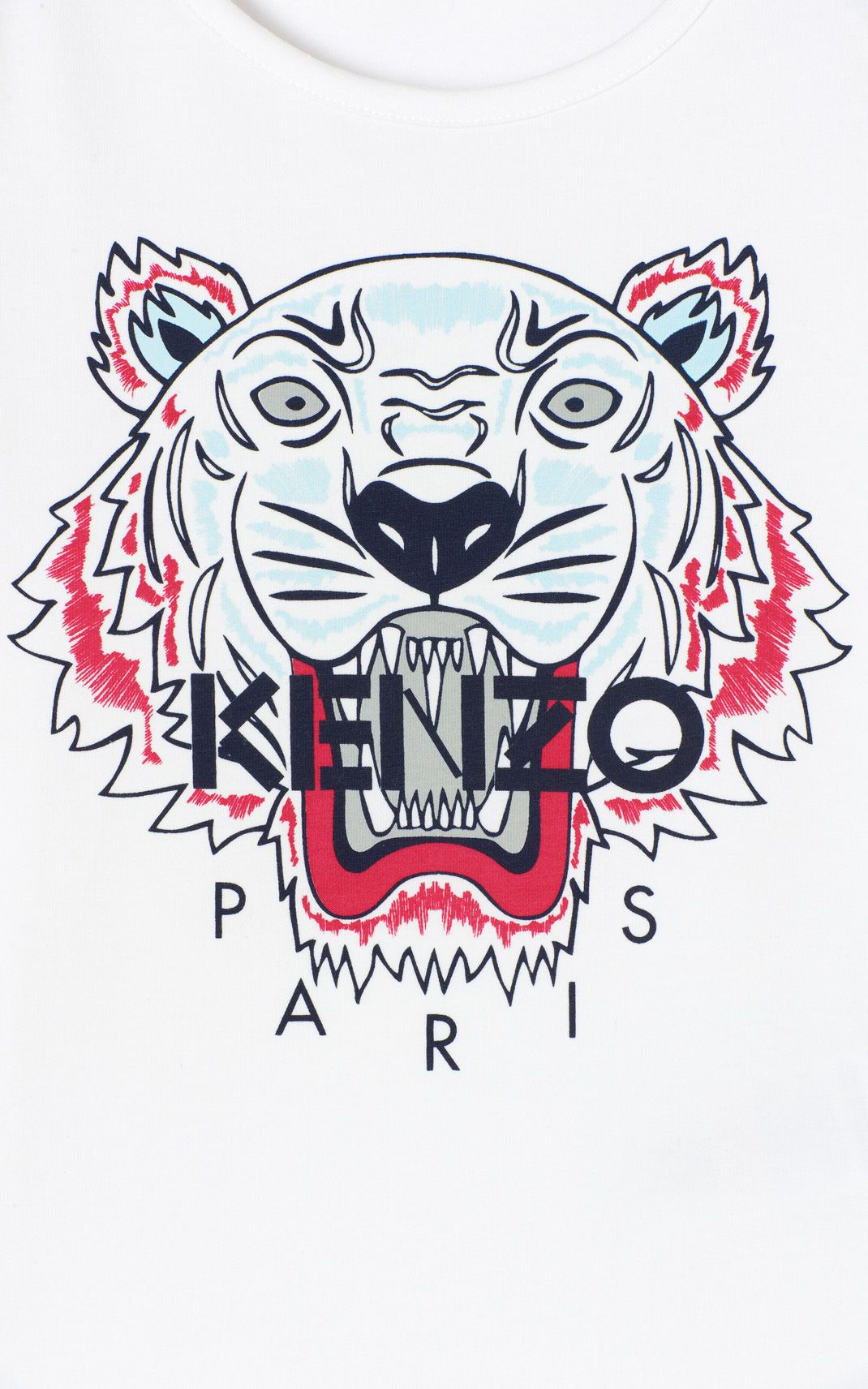 0981a2d7 WHITE Tiger t-shirt for women KENZO | Plaatjes in 2019 | Tiger t ...