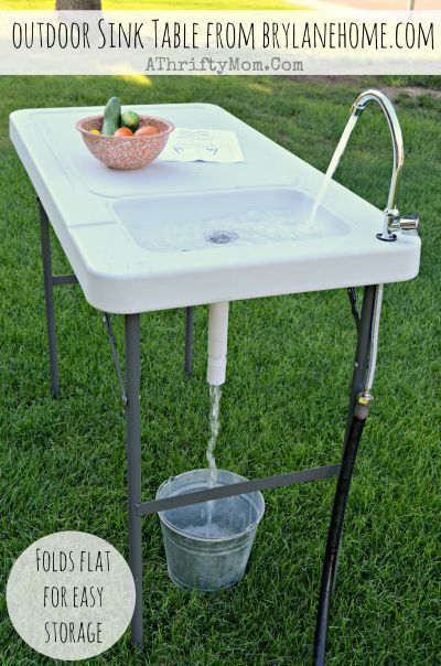 Outdoor Sink Table Review And Giveaway From Brylanehome Outdoor