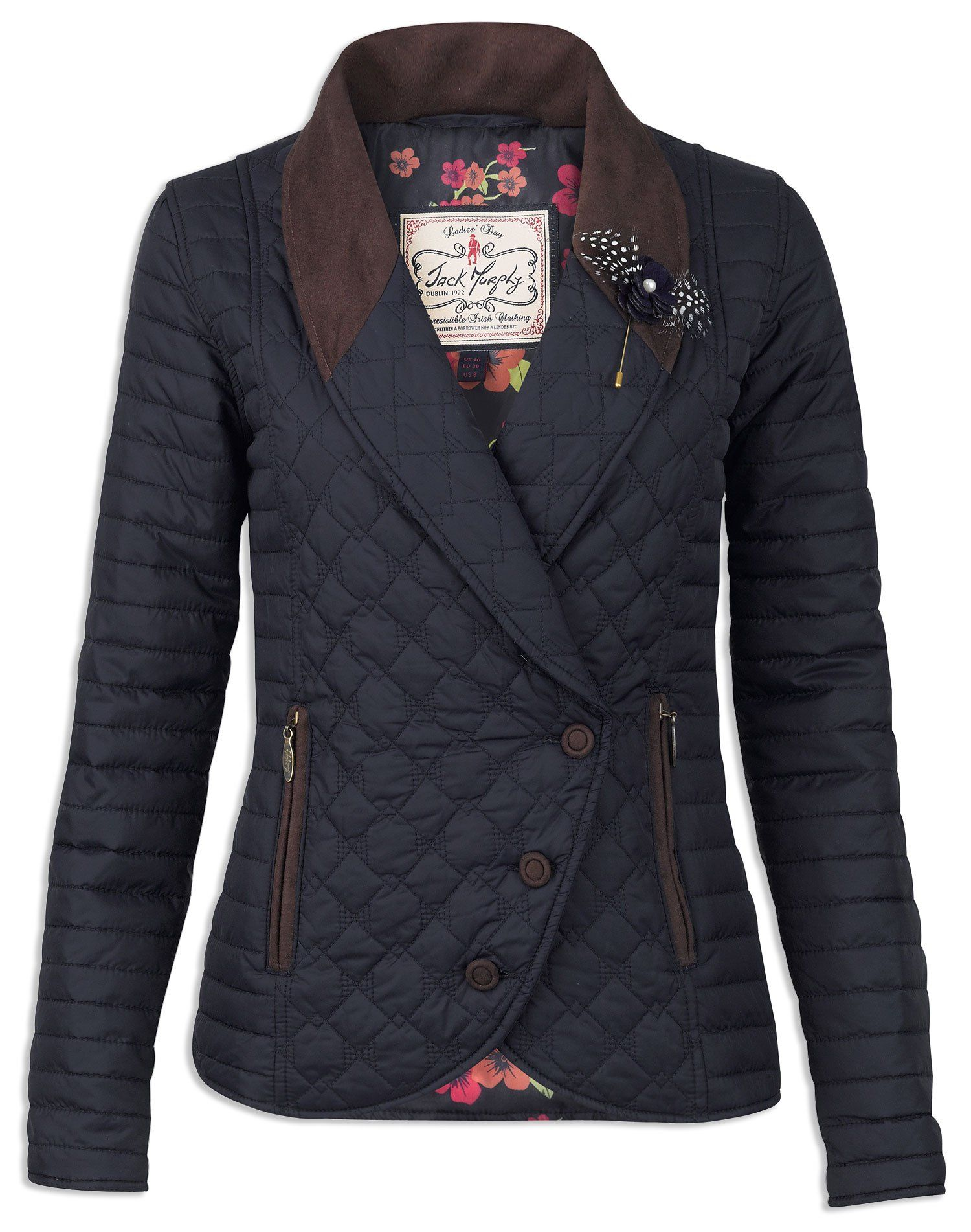 Jack Murphy Glenna Double Breasted Quilted Equestrian Jacket Is Designed To Flatter And Incredibly Chic Quilted Jacket Jackets For Women Womens Quilted Jacket [ 1902 x 1500 Pixel ]