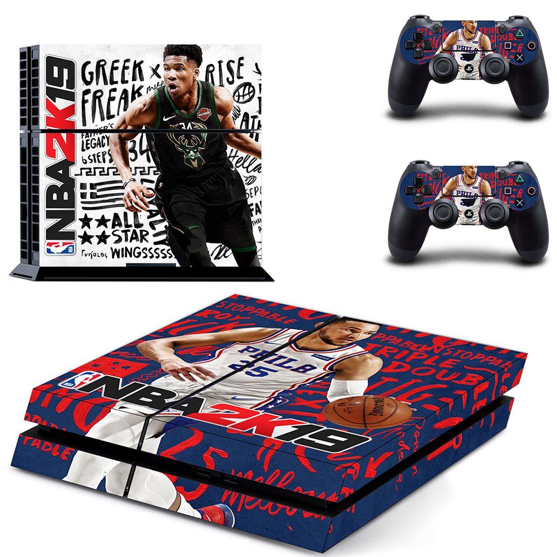 83fa7e674 NBA 2K19 Playstation PS4 Skin Stickers Free Shipping – DjTrading Ps4 Skins