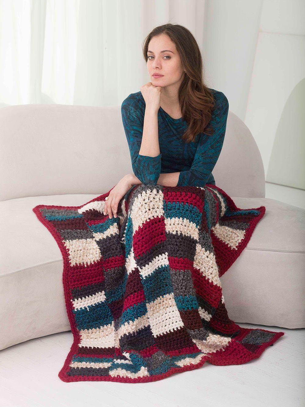 Comfy Heritage Quilt Crochet Blanket   Cobija, Tejido y Labores