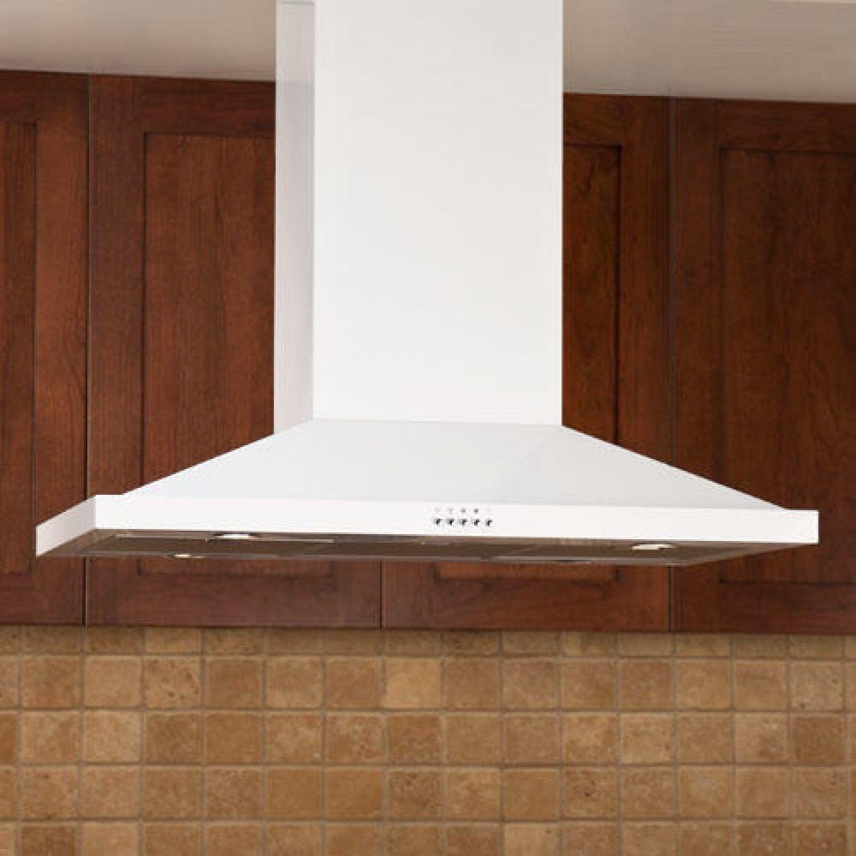 "Kitchen Island Exhaust Hoods 36"" artisan series stainless steel white island range hood - 600"