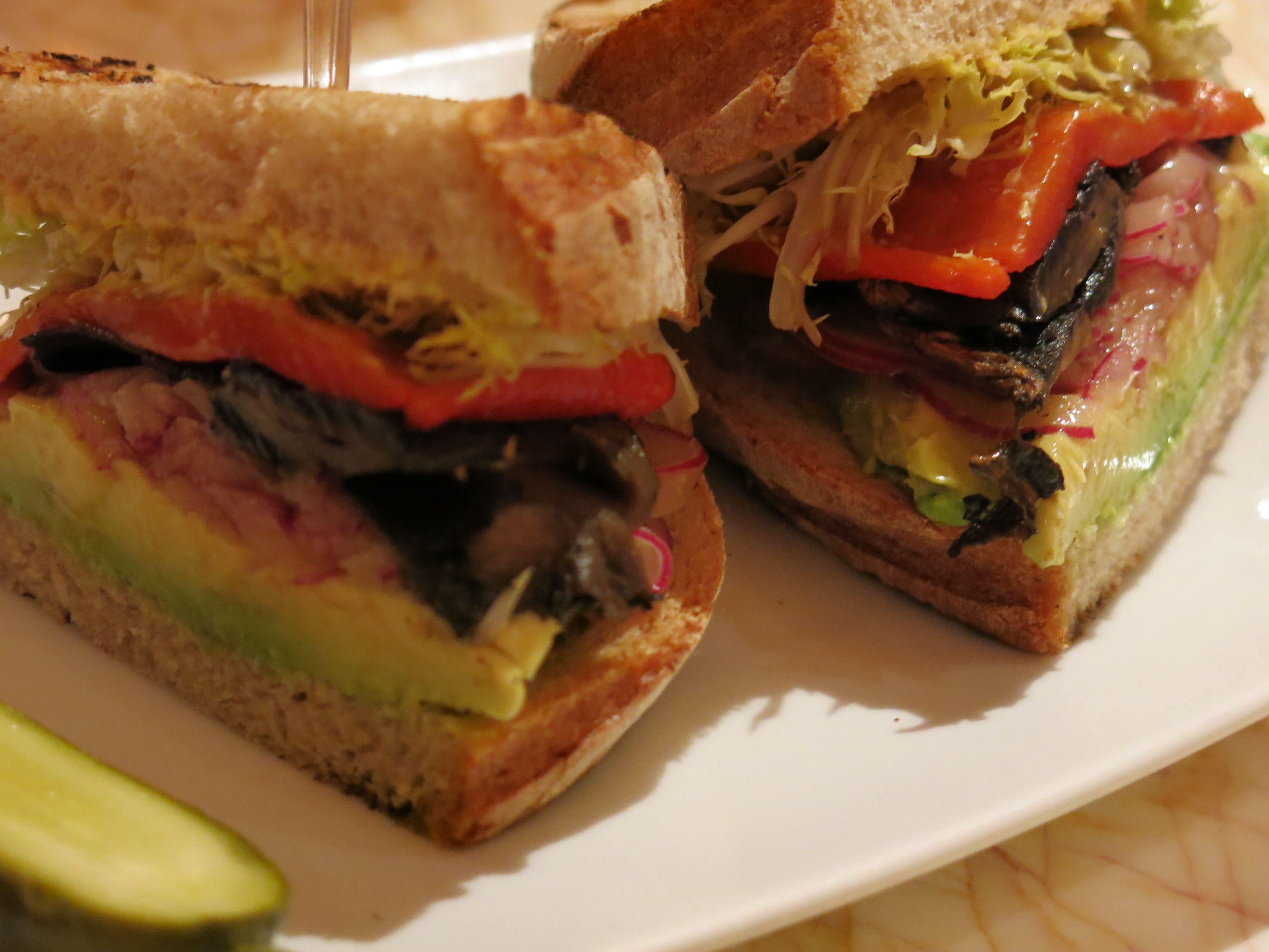 Grilled Portabello Panini, Zoozacrackers at the Wynn #vegan | Vegan ...