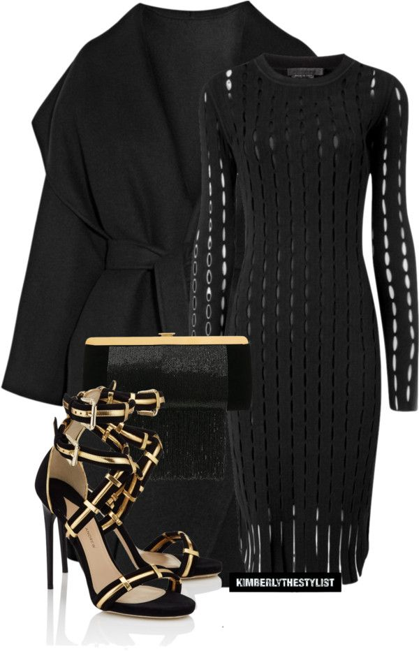 19c316545f0 What Outfit To Wear With Paul Andrew Black Gold Strappy Katerini Heels