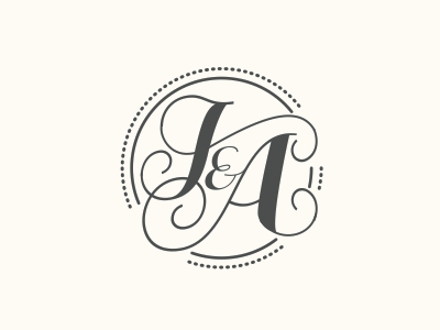 J A Wedding Logo Monogram Personal Logo Design Lettering Alphabet Fonts