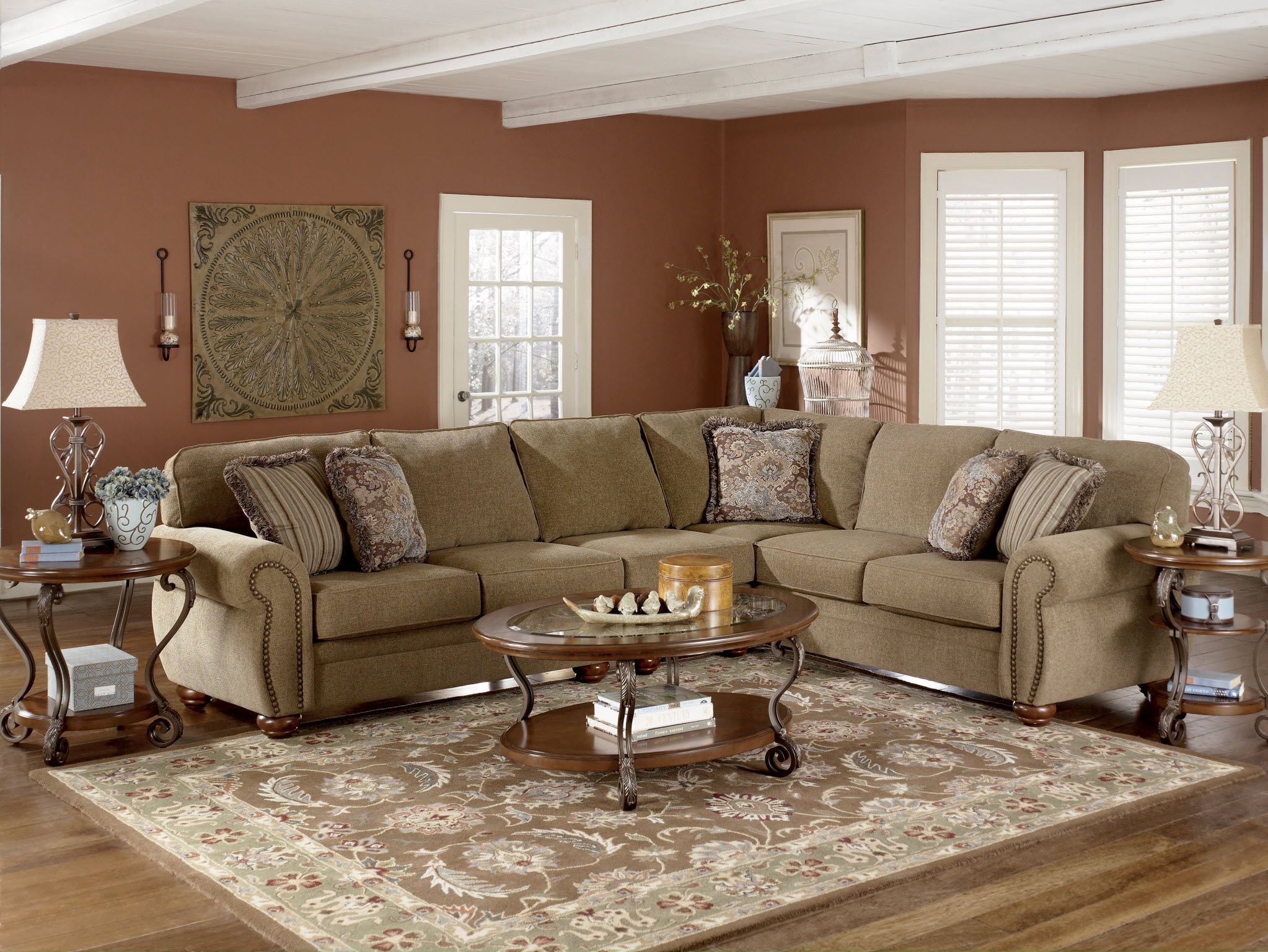 The 'Warner-Earth' Sectional has a great contemporary ...