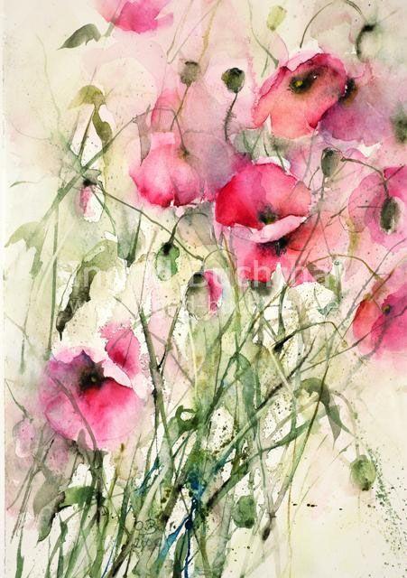 Ingrid Buchthal Karten Flower Art Watercolor Flowers Floral