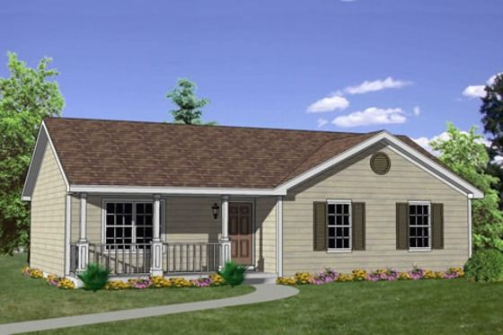 Ranch Style House Plan 3 Beds 2 Baths 1200 Sq Ft Plan 116 242 Ranch Style House Plans Ranch House Plans Simple Ranch House Plans