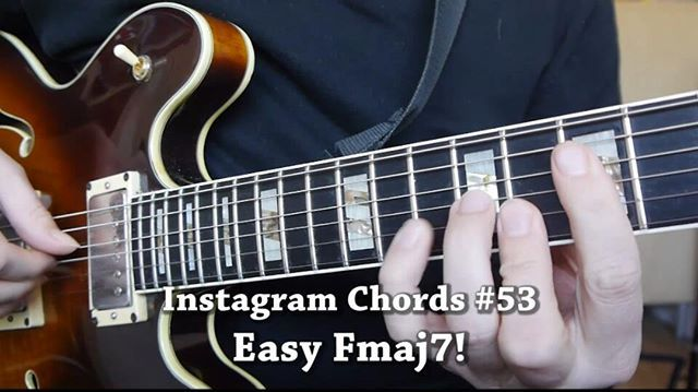 Tabs At The End Of The Video Heres An Easy Fmaj7 Chord Run Hope