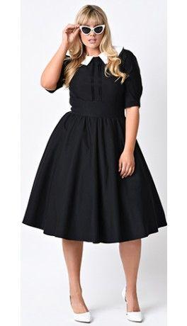 Vintage Plus Size Clothing Plus Size Retro Dresses Plus Size Black Dresses Plus Size Outfits