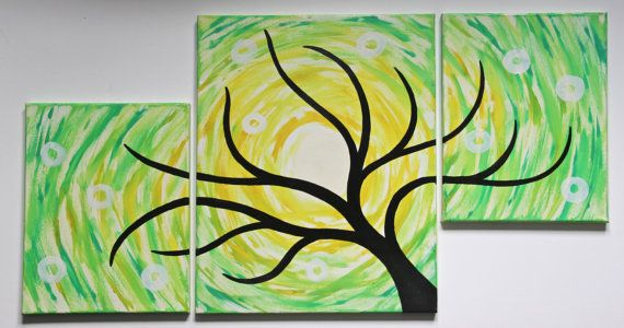 Original Contemporary Modern Multiple Panel Oil by drewtimmer