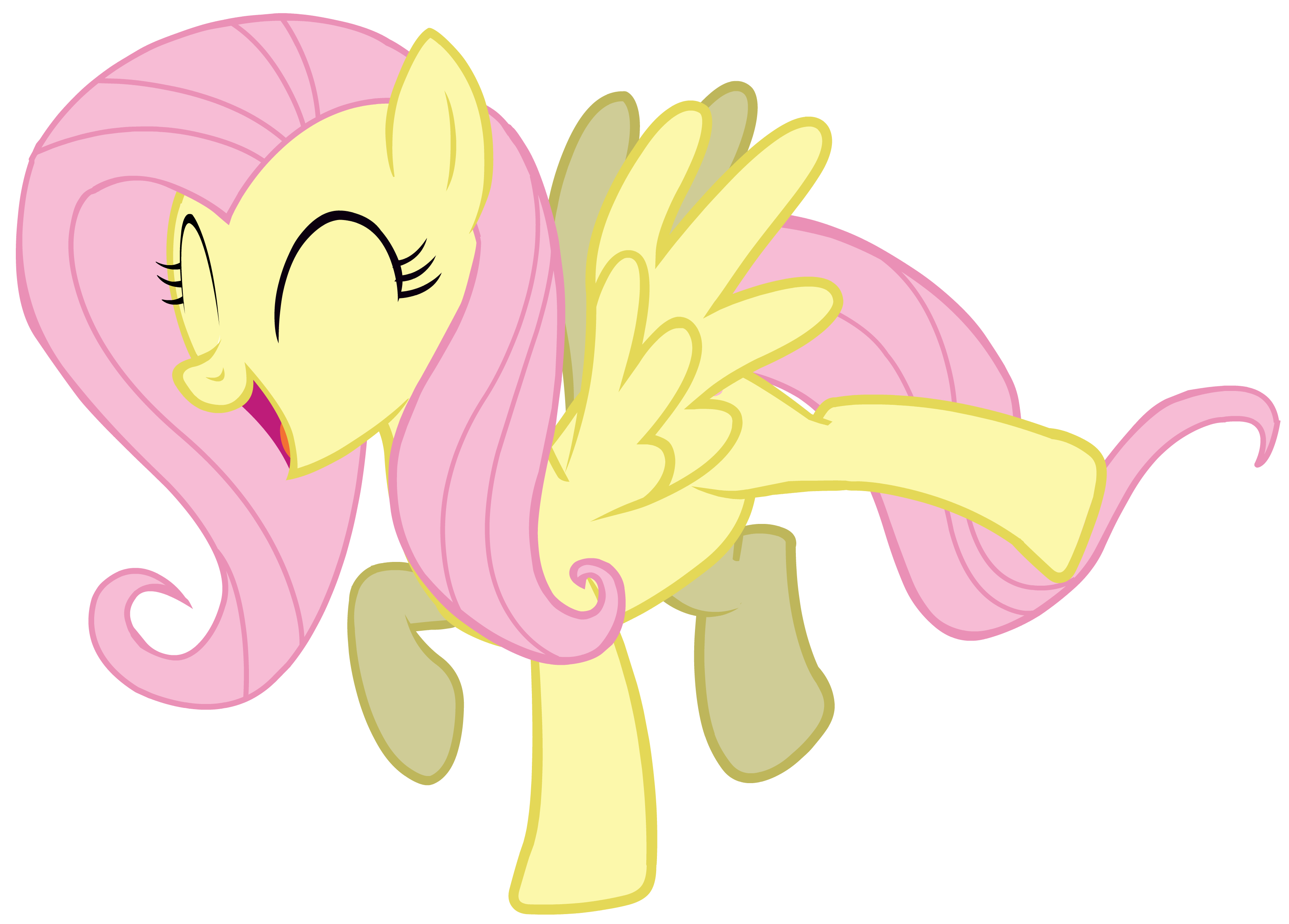 Image pinkie pie and fluttershy flying png my little pony fan - My Little Pony Happy Fluttershy Pinkie Pie Party Time Vector