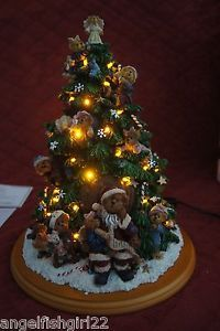 Boyds Bear Lighted Christmas Tree By The Danbury Mint Collectible New In Box Christmas Tree Lighting Christmas Tree Christmas
