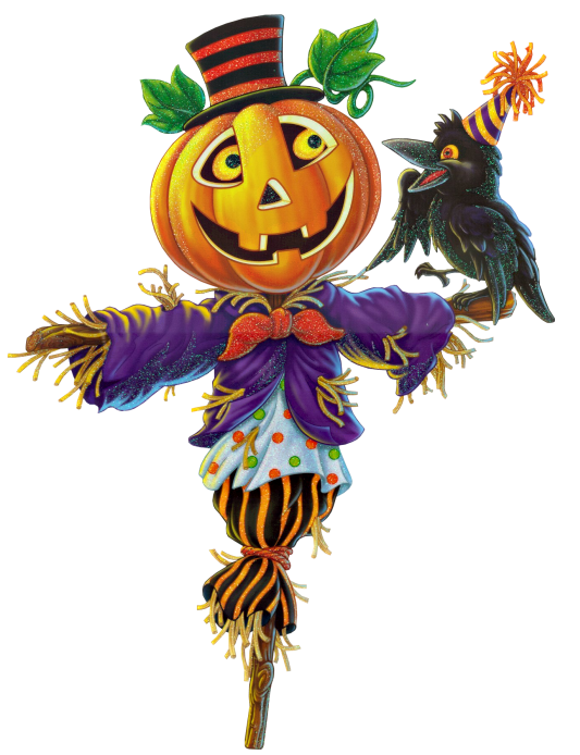 Pumpkin Scarecrow PNG Clipart   Halloween clips, Halloween ...