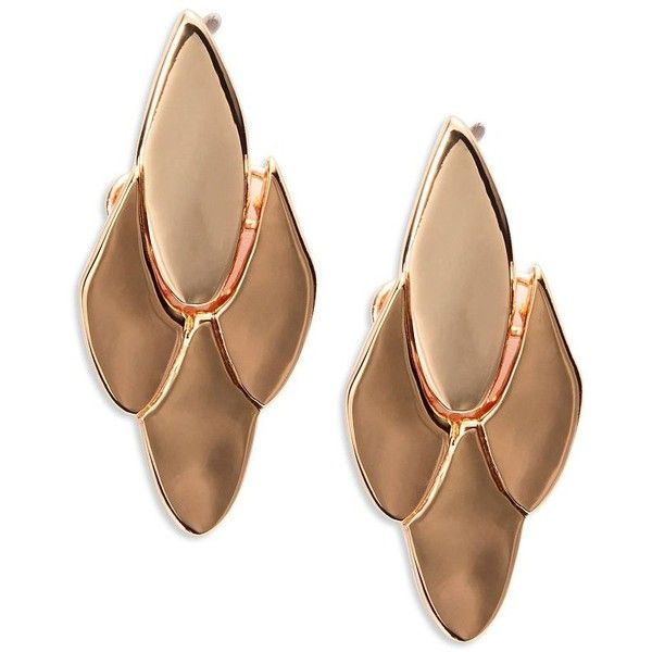 Kate Spade New York Fancy Flock Post Back Earrings ($68) ❤ liked on Polyvore featuring jewelry, earrings, rose gold, post back earrings, pink gold earrings, kate spade earrings, earrings jewelry and fancy earrings