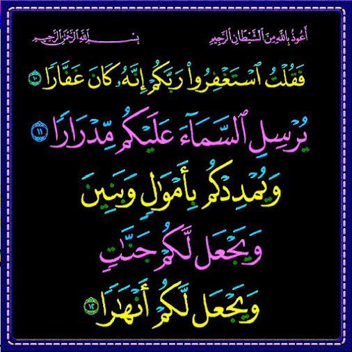 صيغ الاستغفار المأثورة Islamic Caligraphy Caligraphy Neon Signs