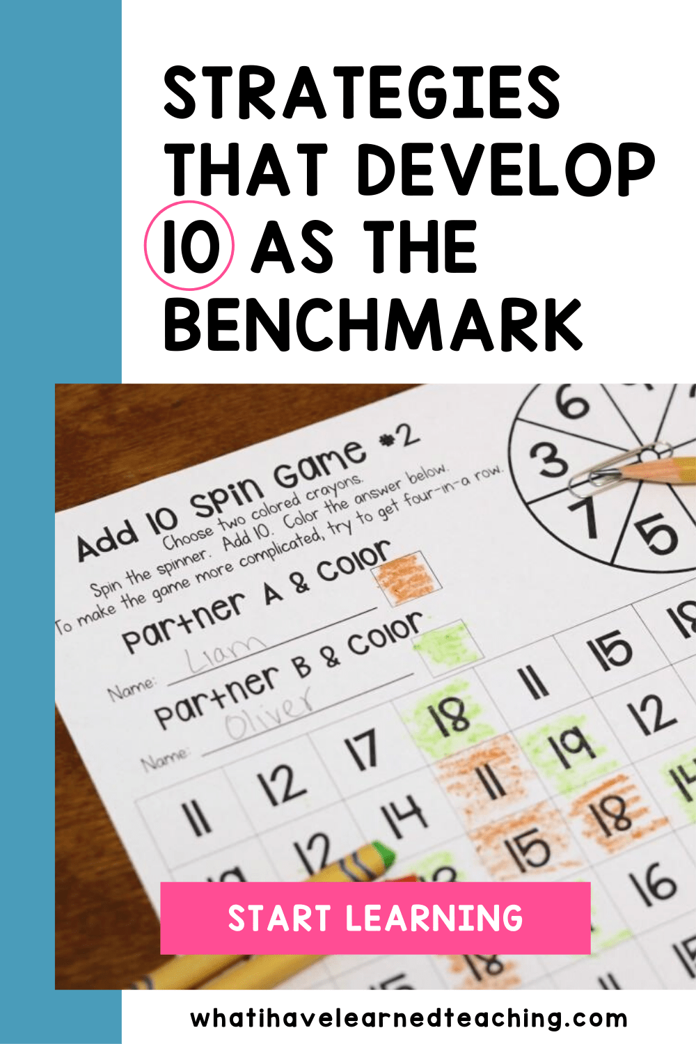 Strategies That Develop 10 As A Benchmark Number In 2020 Math Fact Practice Teaching First Grade Math Lesson Plans