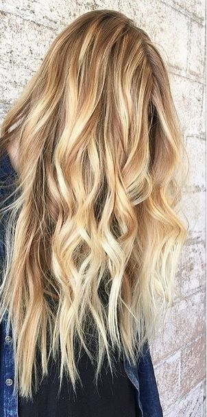 Lange haare blonde strahnchen