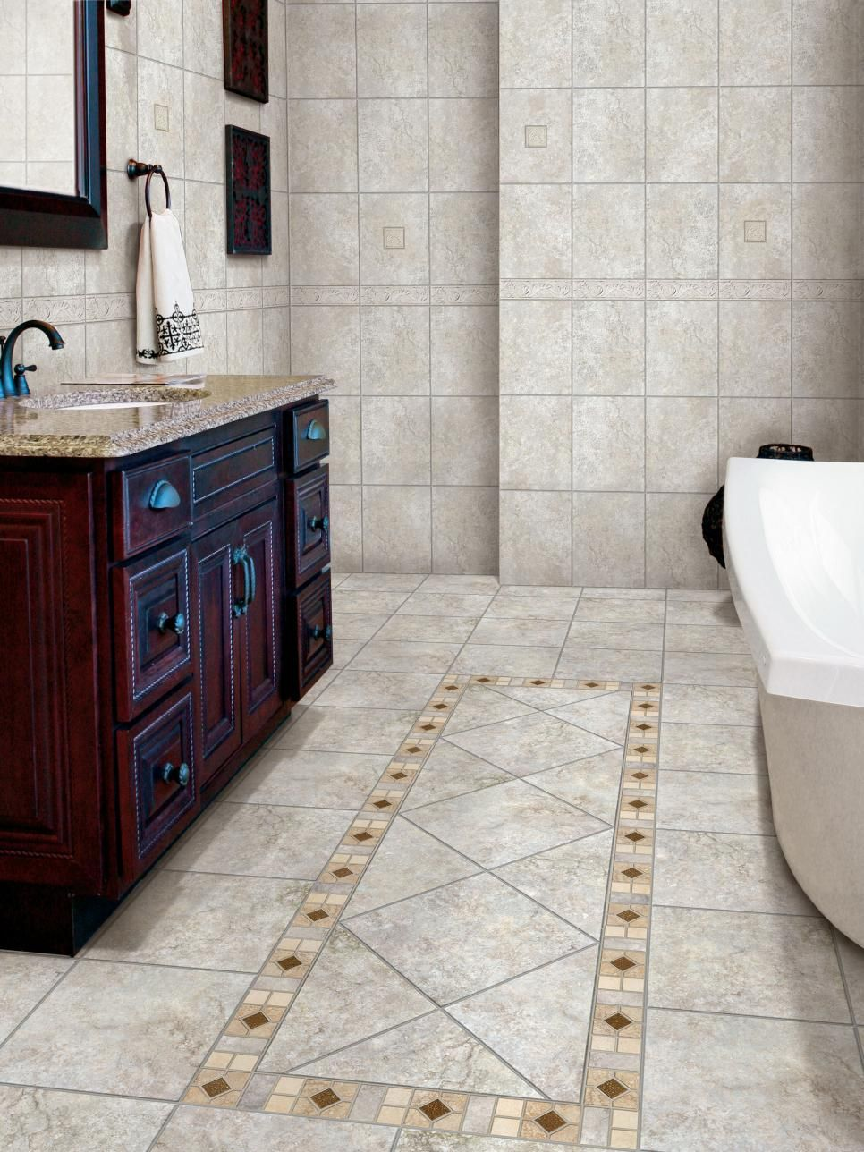 HGTVRemodels Bathroom Floor Buying Guide Gives You Expert Tips And Photos  For Using Stone Tile In Your Bathroom Renovation.