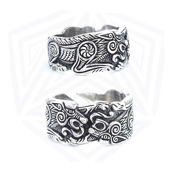 odins wolves ring fenrir ring wolf ring wolves viking wolf jewel pagan jewellery viking wedding ring - Viking Wedding Rings