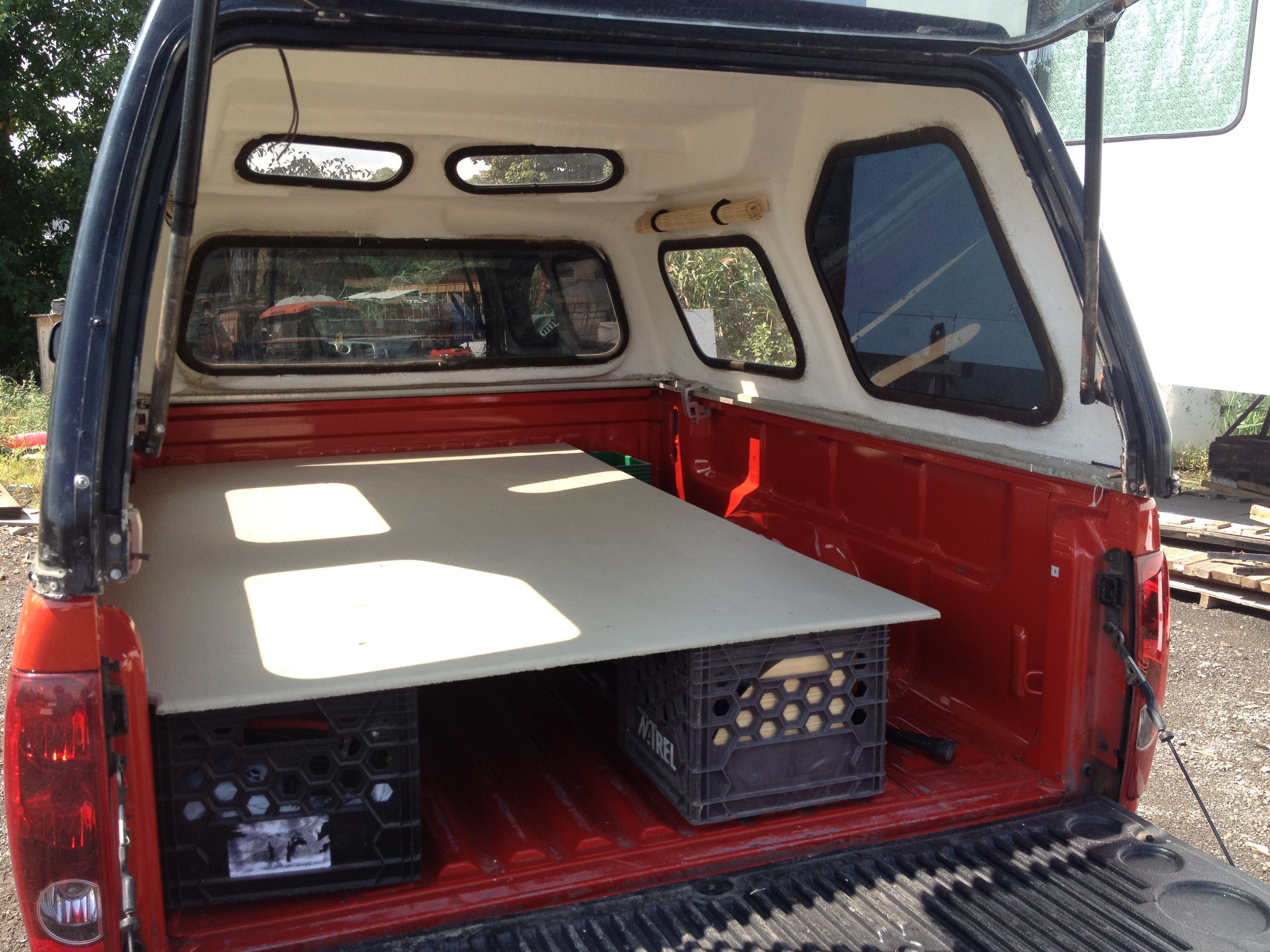 Trying to convert my truck in a camper Truck bed camping