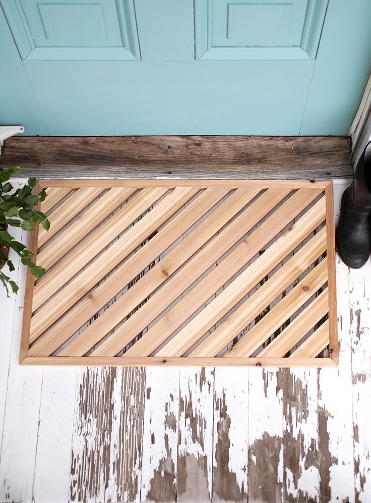 DIY Wood Doormat @themerrythought