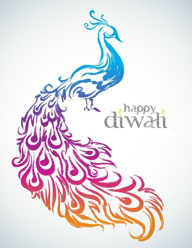 Happy Diwali Floral Art Art Template Free Vector Illustration