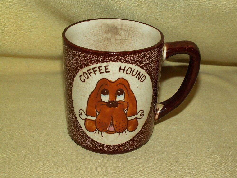 Right! vintage coffee hound mug not