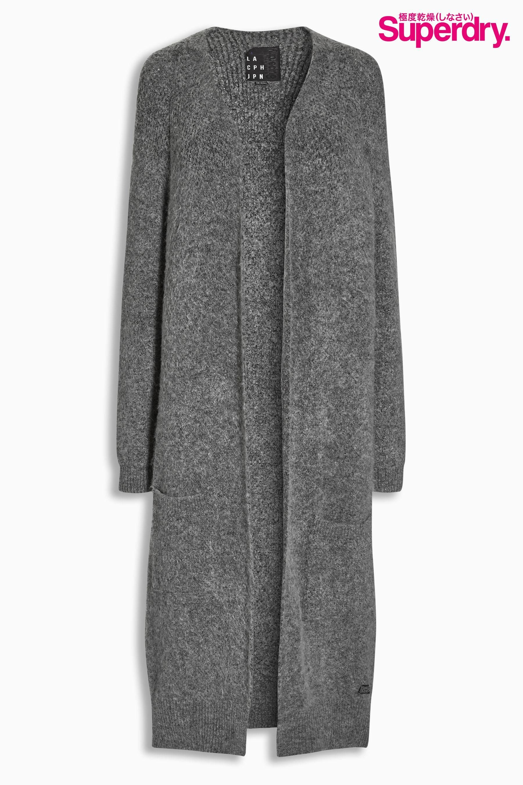Buy Superdry Grey Anya Longline Cardigan from the Next UK online ...