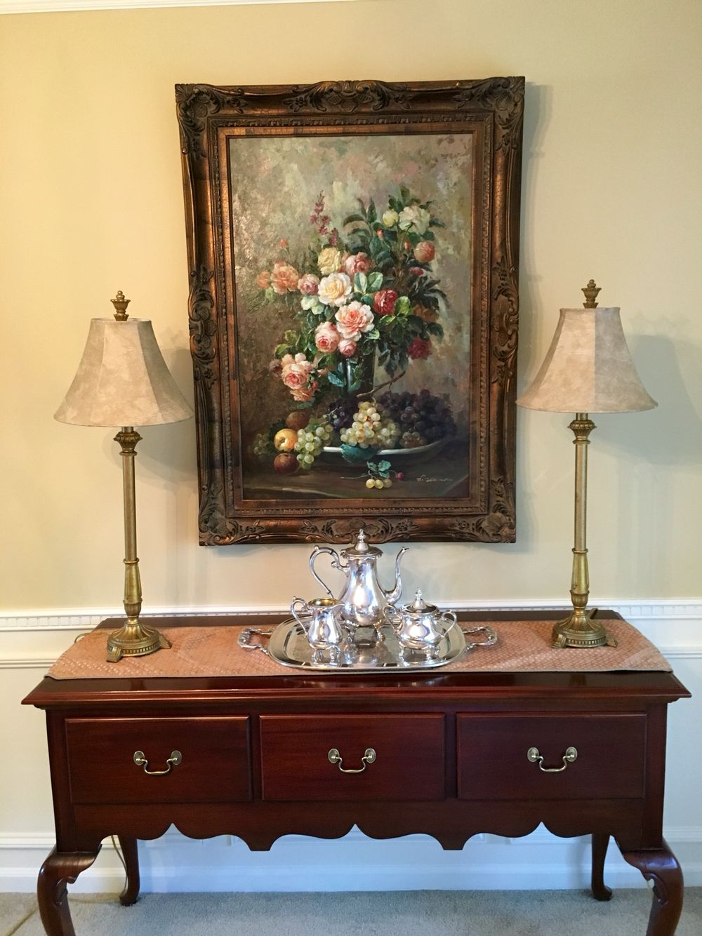 Before and after dining room Painted cherry Queen Anne ...
