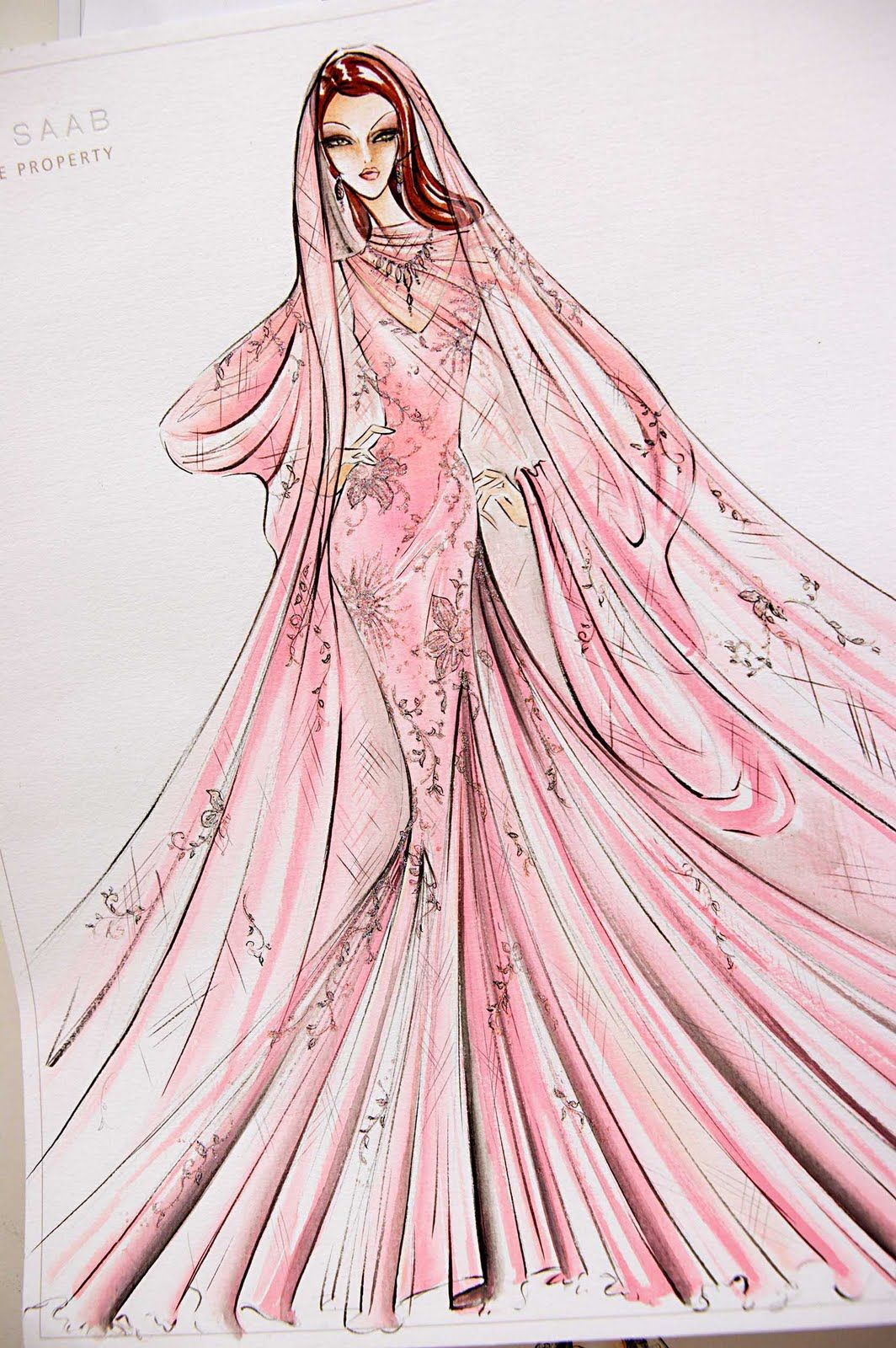 Elie Saab #sketches #bocetos #vestidos | Fashion Sketches - Bocetos ...