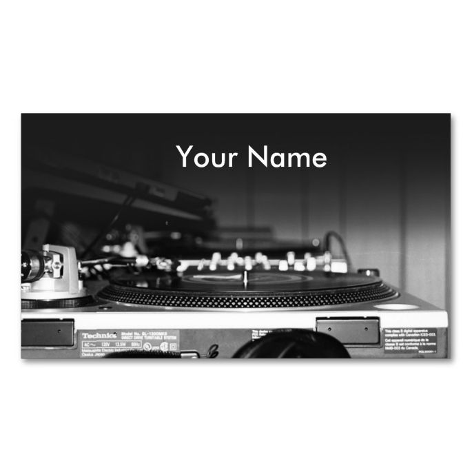 DJ music Business Card. This is a fully customizable ...