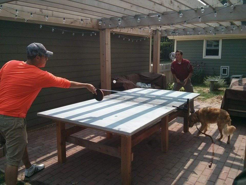 How To Build A Concrete Ping Pong Table Ping Pong Table Outdoor Ping Pong Table Ping Pong